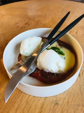 Tomate mit Mozarella, Mobile Kochkunst